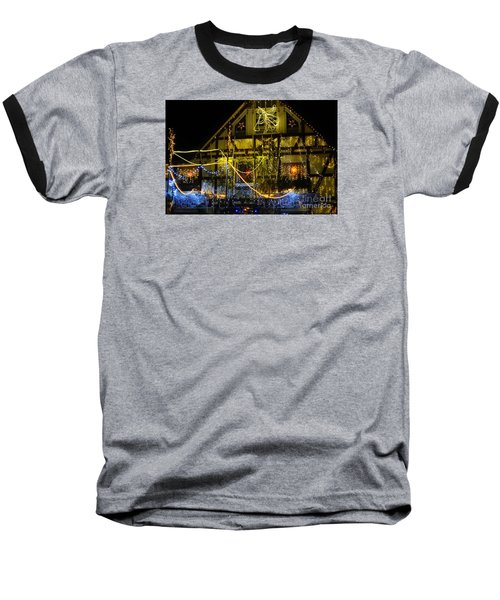 Illuminated Christmas-house Baseball T-Shirt