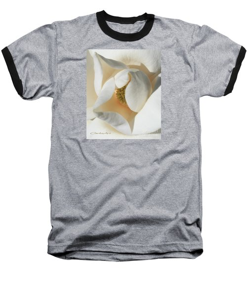 Illuminated Magnolia Macro Baseball T-Shirt