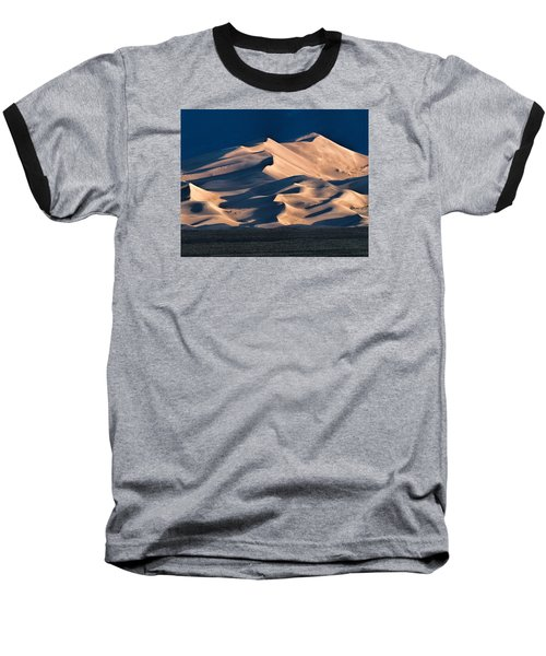 Illuminated Sand Dunes Baseball T-Shirt by Alana Thrower