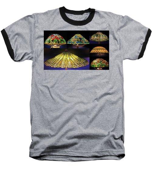 Illuminated Tiffany Lamps - A Collage Baseball T-Shirt