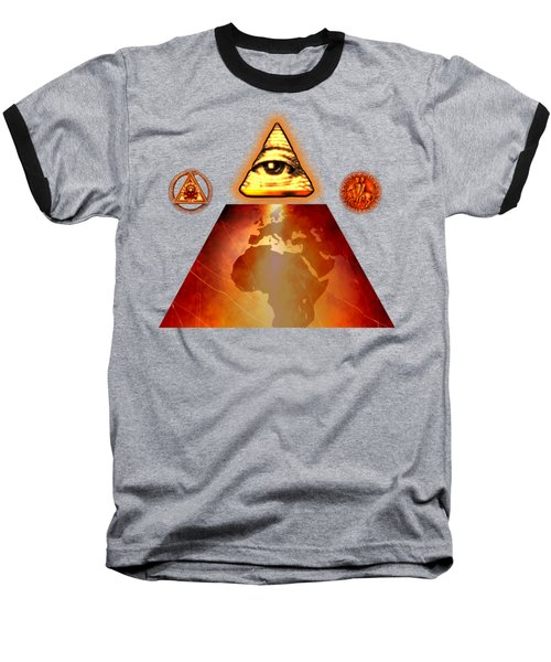 Illuminati World By Pierre Blanchard Baseball T-Shirt by Pierre Blanchard