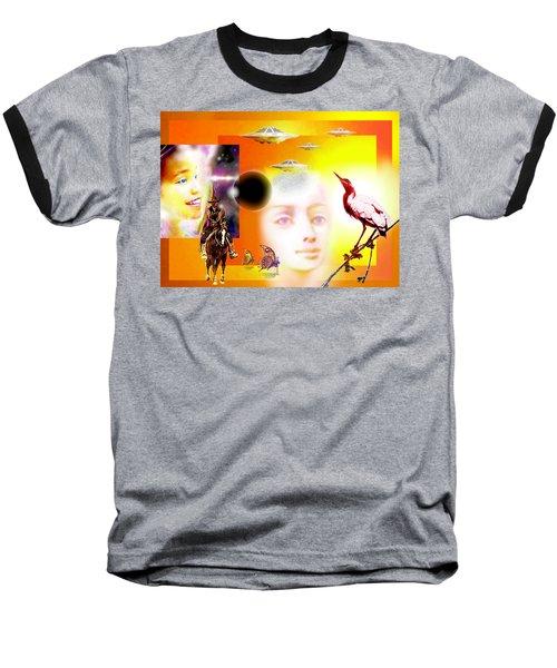 Illusion  Of Reality Baseball T-Shirt