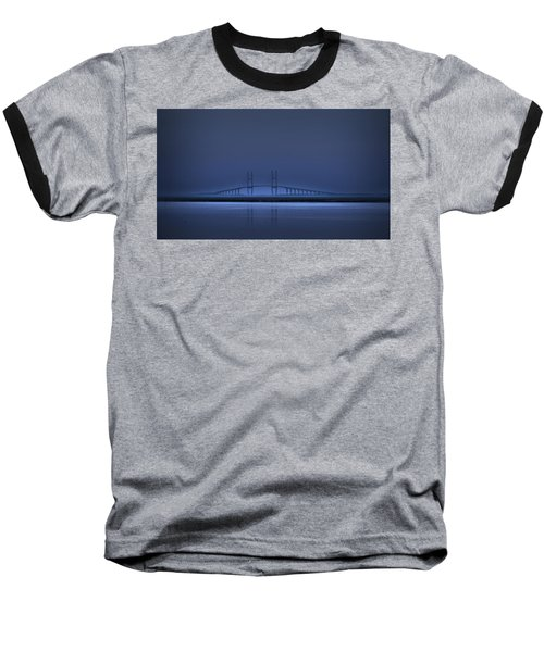 I'm In A Blue Mood Baseball T-Shirt by Laura Ragland