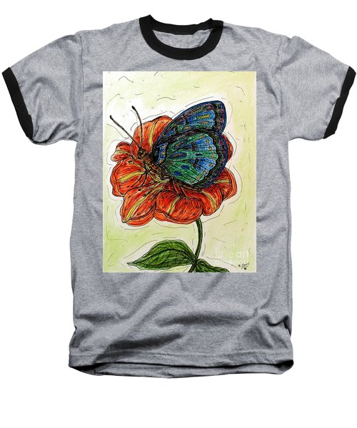 Imagine Butterflies A Baseball T-Shirt