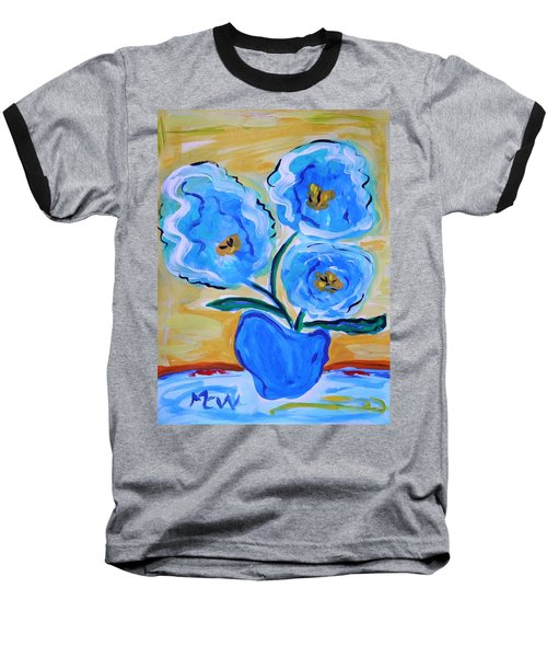 Imagine In Blue Baseball T-Shirt
