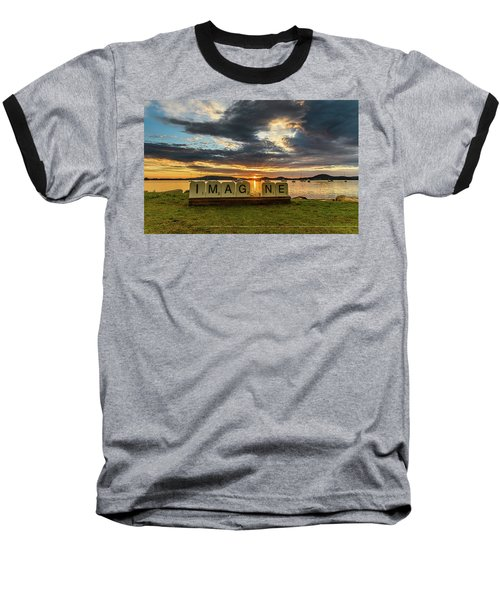 Imagine Sunrise Waterscape Over The Bay Baseball T-Shirt