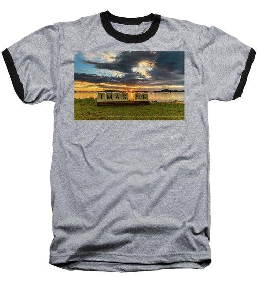 Imagine Sunrise Waterscape Over The Bay Baseball T-Shirt