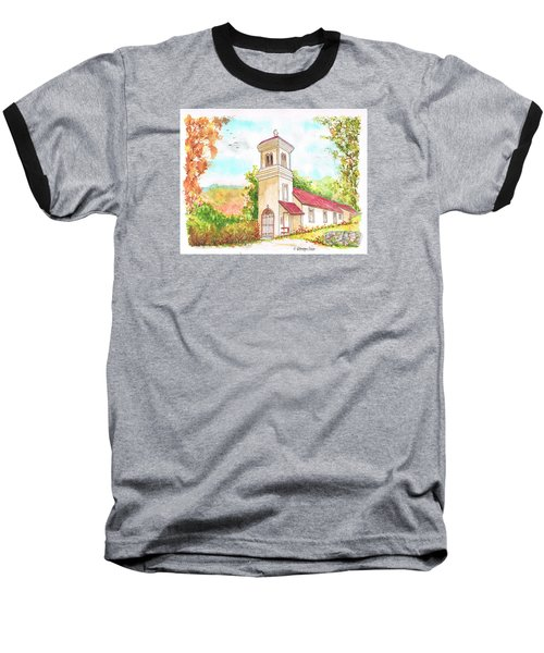 Immaculate Concepcion Catholic Church, Sierra Nevada, California Baseball T-Shirt