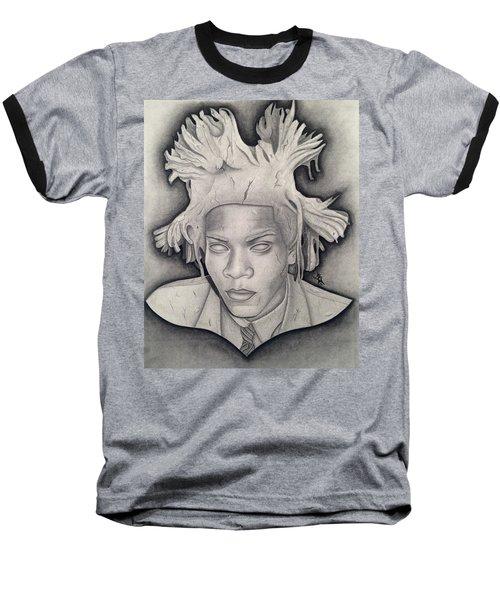 Immortalizing In Stone Jean Michel Basquiat Drawing Baseball T-Shirt