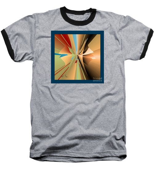 Baseball T-Shirt featuring the digital art Imperfection And Harmony by Leo Symon