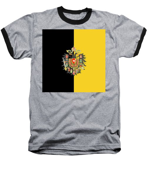 Habsburg Flag With Imperial Coat Of Arms 2 Baseball T-Shirt