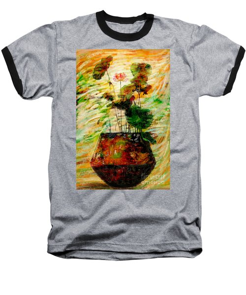 Impression In Lotus Tree Baseball T-Shirt