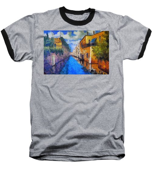 Impressionist D'art At The Canal Baseball T-Shirt