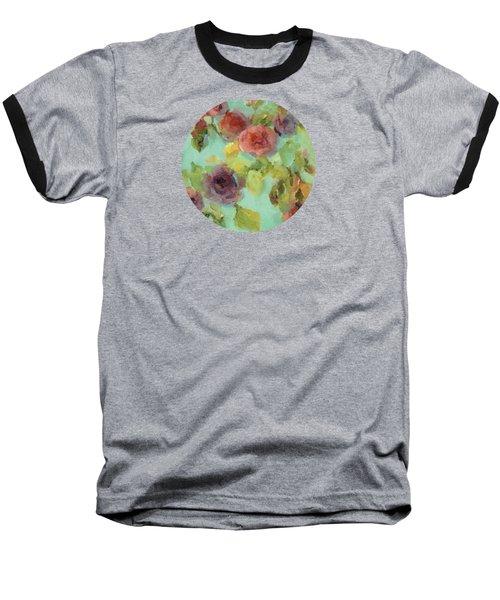 Impressionist Floral  Baseball T-Shirt
