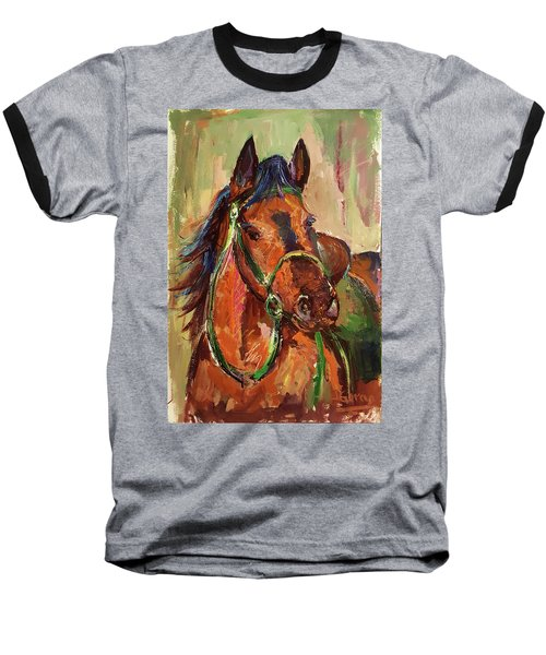 Impressionist Horse Baseball T-Shirt by Janet Garcia