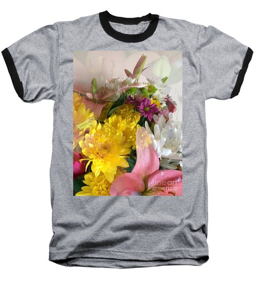 Impressionist Spring Bouquet Baseball T-Shirt