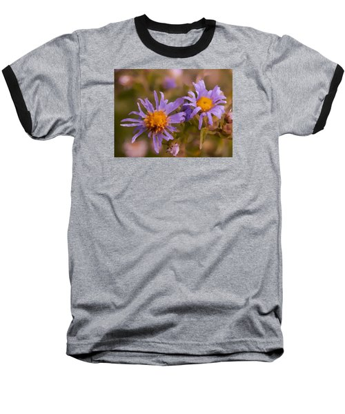 Impressionistic Asters Baseball T-Shirt