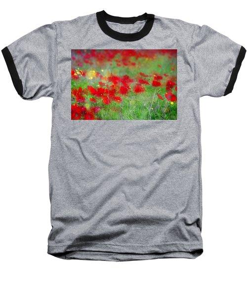 Impressionistic Blossom Near Shderot Baseball T-Shirt