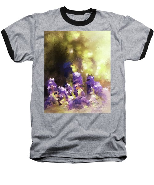 Baseball T-Shirt featuring the digital art Impressions Of Muscari by Lois Bryan