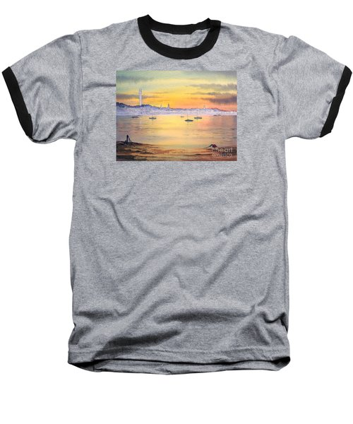 Baseball T-Shirt featuring the painting Impressions Of Provincetown by Bill Holkham
