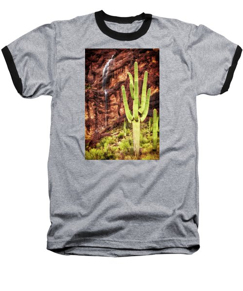 In A Dry And Thirsty Land Baseball T-Shirt by Rick Furmanek