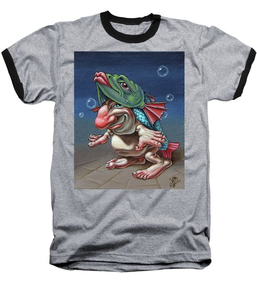 In A Fish Suit. Baseball T-Shirt