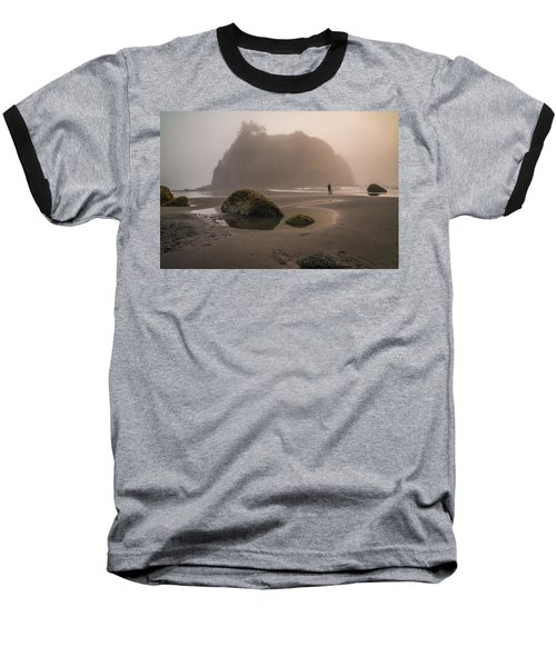 In A Fog Baseball T-Shirt by Kristopher Schoenleber