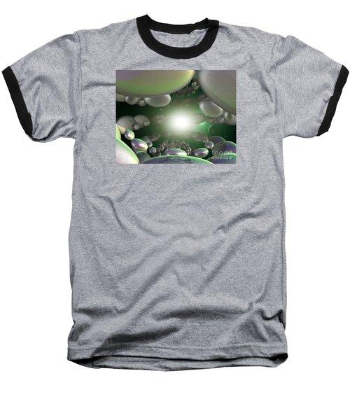 Baseball T-Shirt featuring the digital art In A Galaxy Far Far Far Away by Melissa Messick