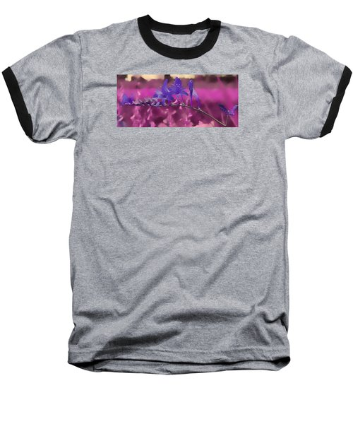 Baseball T-Shirt featuring the photograph In A Pink World by Milena Ilieva
