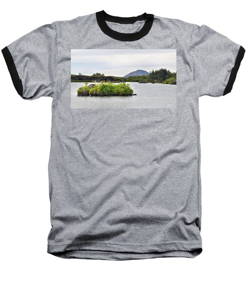 Baseball T-Shirt featuring the photograph In An Iceland Lake by Joe Bonita
