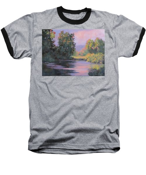 Baseball T-Shirt featuring the painting In Another Light by Karen Ilari