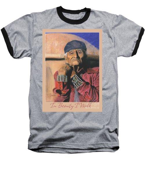 In Beauty I Walk 2 - Pastel Art - Native American Baseball T-Shirt