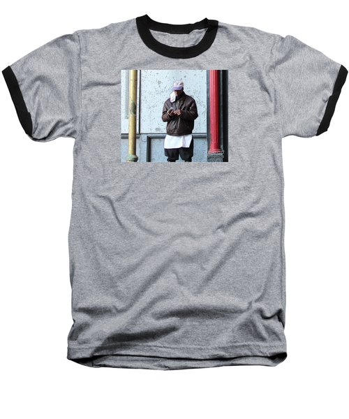 Baseball T-Shirt featuring the photograph In Between by Joe Jake Pratt