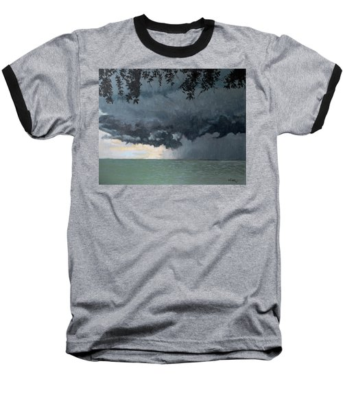 In Coming Storm-epping Forest On The Lake Baseball T-Shirt