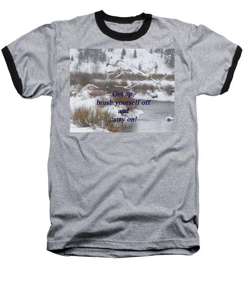 In Flight Carry On Baseball T-Shirt by DeeLon Merritt