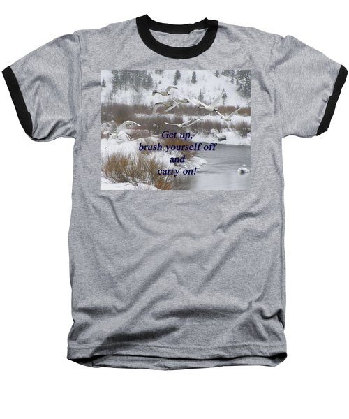 In Flight Carry On Baseball T-Shirt