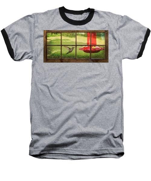 In Flight Baseball T-Shirt by Denis Lemay