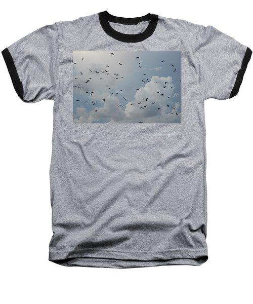 Baseball T-Shirt featuring the photograph In Flight by Rob Hans
