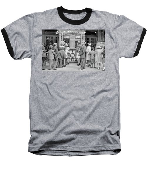 In Front Of A Movie Theater, Chicago, Illinois Baseball T-Shirt