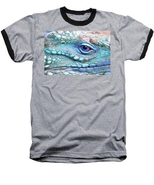 In His Eye Baseball T-Shirt by Iryna Goodall