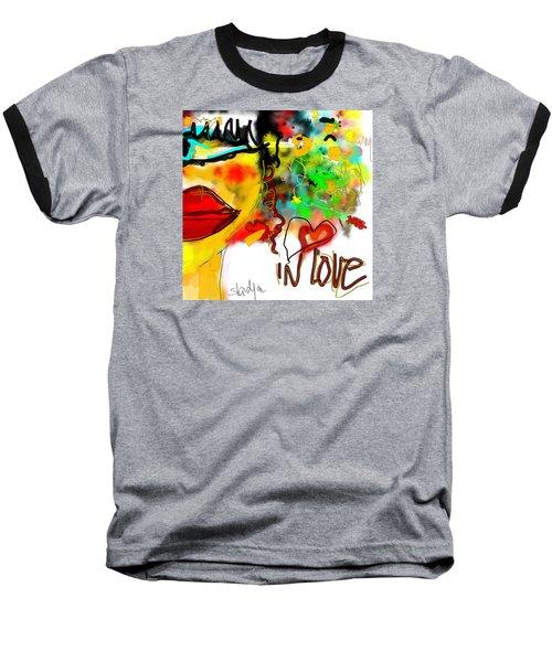 In Love  Baseball T-Shirt by Sladjana Lazarevic