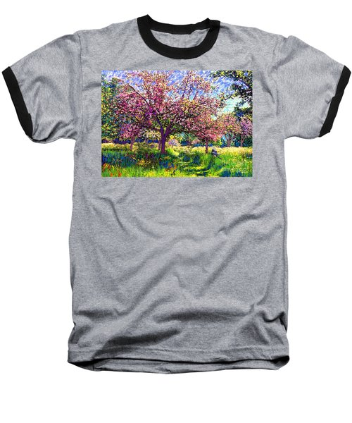 In Love With Spring, Blossom Trees Baseball T-Shirt by Jane Small