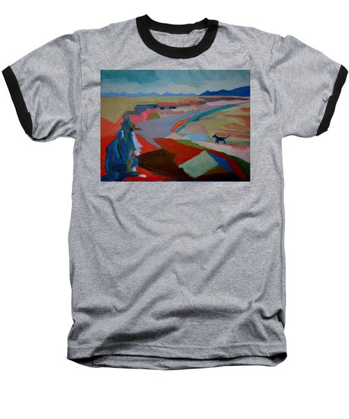 Baseball T-Shirt featuring the painting In My Land by Francine Frank