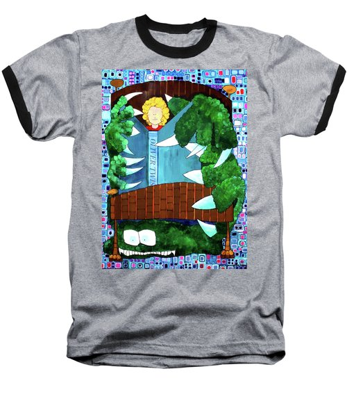Baseball T-Shirt featuring the painting In My Room by Donna Howard