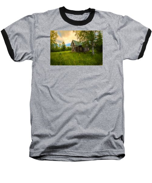 Baseball T-Shirt featuring the photograph In Peace In Your Grace by Rose-Maries Pictures