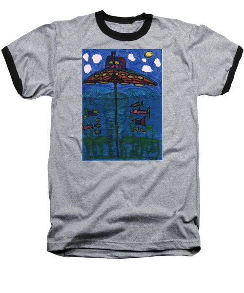 In Search Of Life Baseball T-Shirt by Darrell Black
