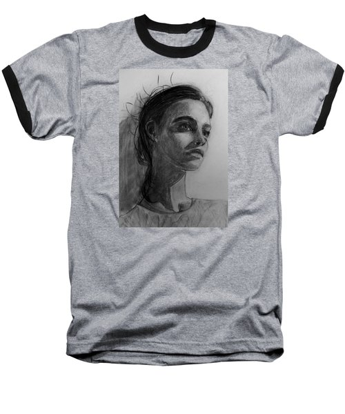 Baseball T-Shirt featuring the painting In This Silence I Believe by Jarko Aka Lui Grande