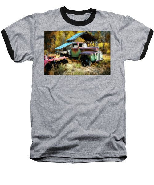 In The Autumn Of Life - 1945 Ford Flatbed Truck Baseball T-Shirt