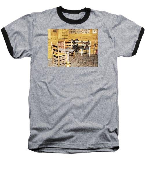 In The Barn Baseball T-Shirt by Susan Leggett