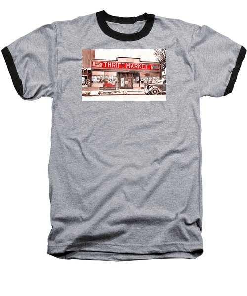 In The Beginning, Meijer, Greenville, Michigan, Old Store Front Baseball T-Shirt